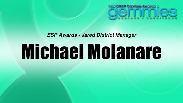 ESP Awards - Jared District Manager