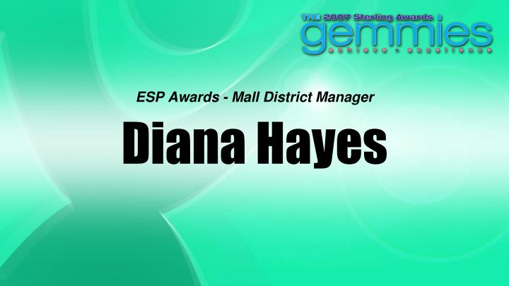 ESP Awards - Mall District Manager