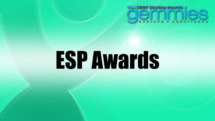 Esp awards