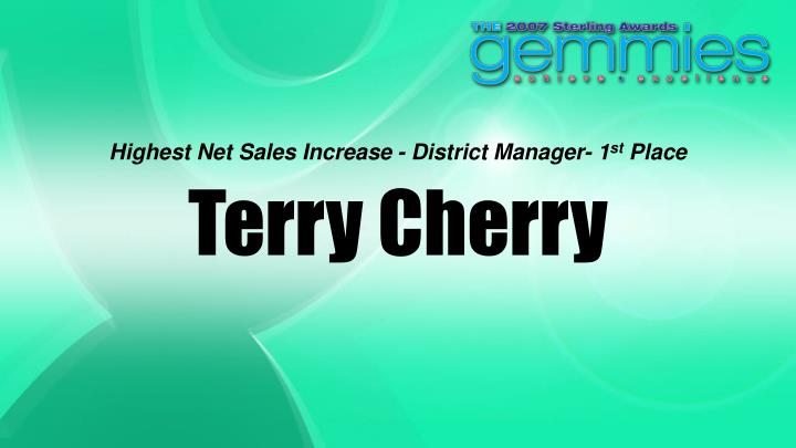 Highest Net Sales Increase - District Manager- 1