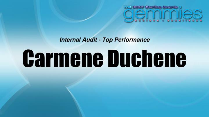 Internal Audit - Top Performance