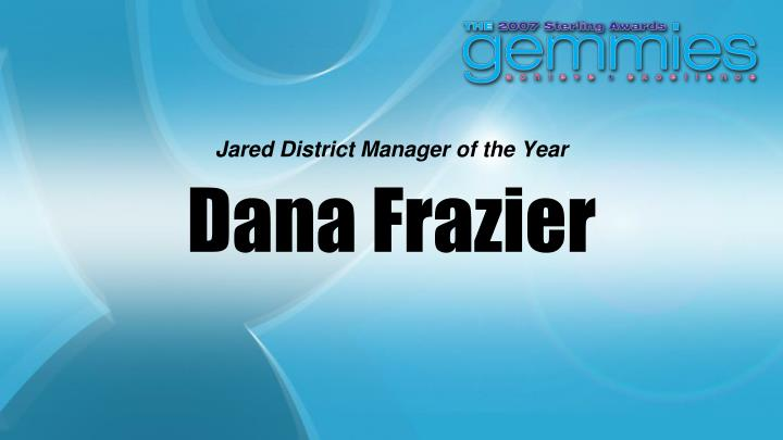 Jared District Manager of the Year