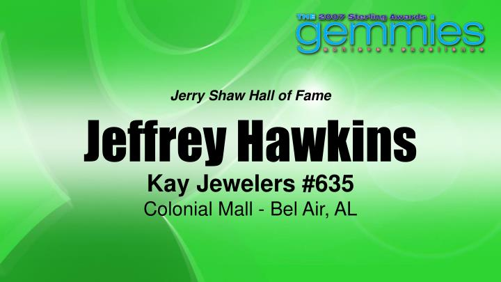 Jerry Shaw Hall of Fame