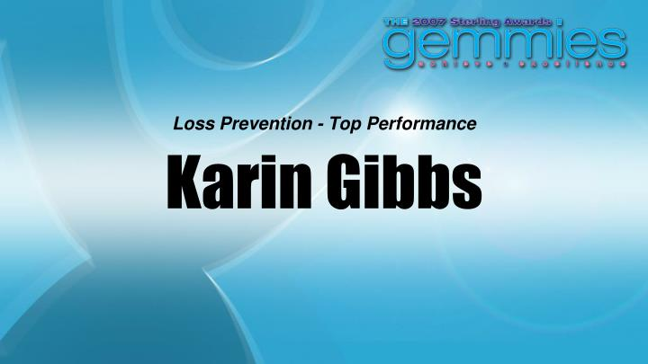 Loss Prevention - Top Performance