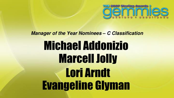Manager of the Year Nominees – C Classification