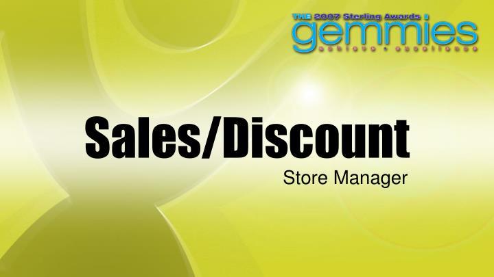 Sales/Discount