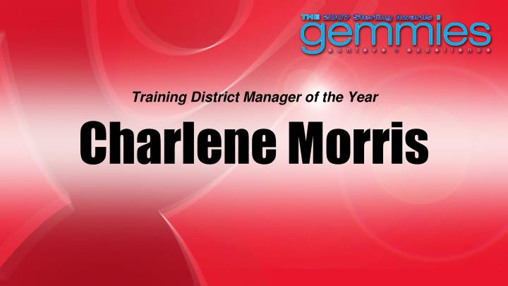 Training District Manager of the Year