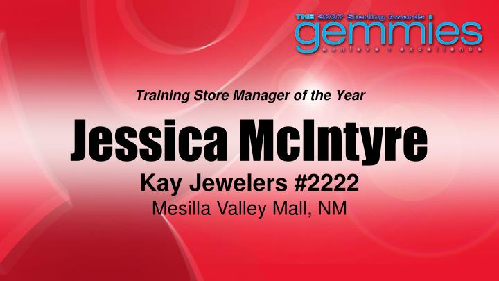 Training Store Manager of the Year
