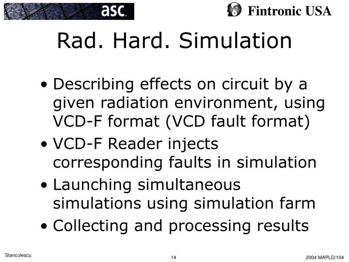 Rad. Hard. Simulation