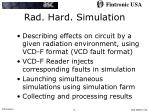rad hard simulation