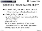 radiation failure susceptibility
