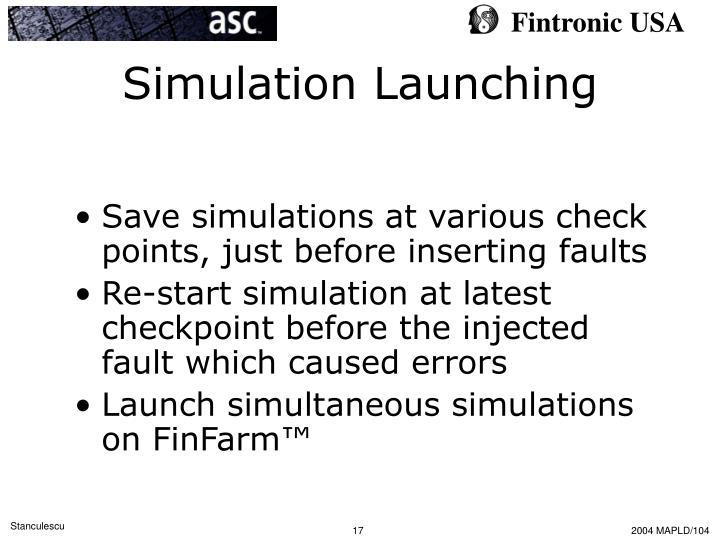 Simulation Launching