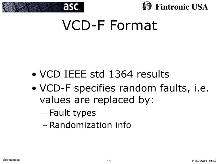 VCD-F Format