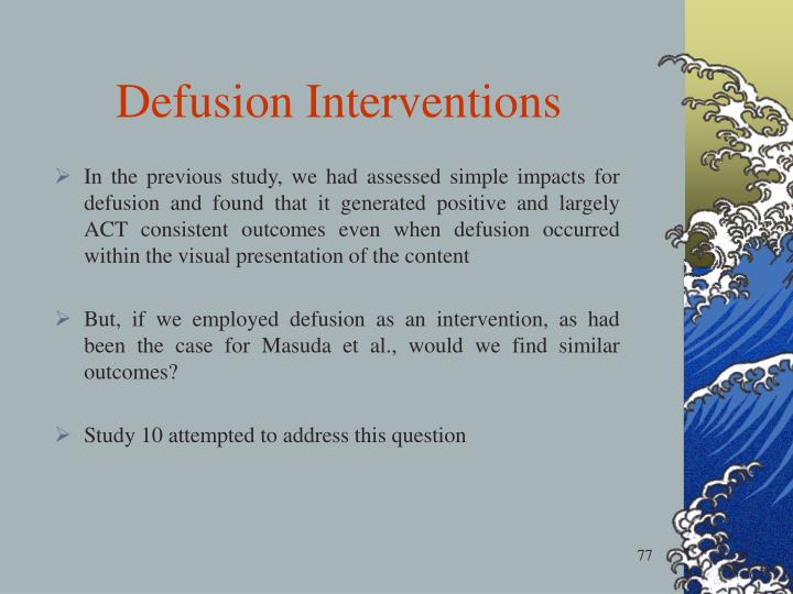Defusion Interventions