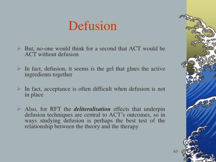 Defusion