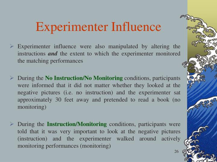 Experimenter Influence