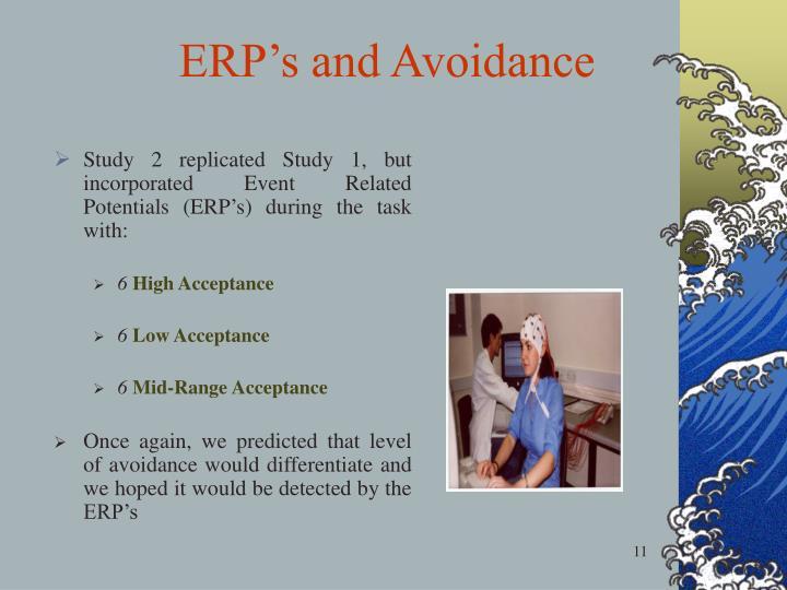 ERP's and Avoidance