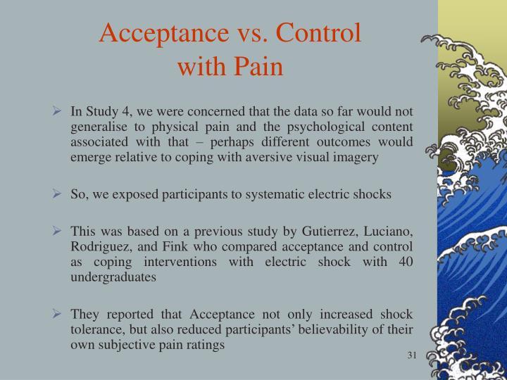 Acceptance vs. Control