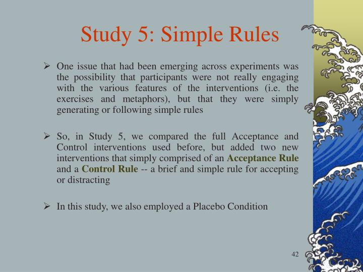 Study 5: Simple Rules