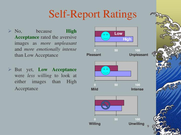 Self-Report Ratings