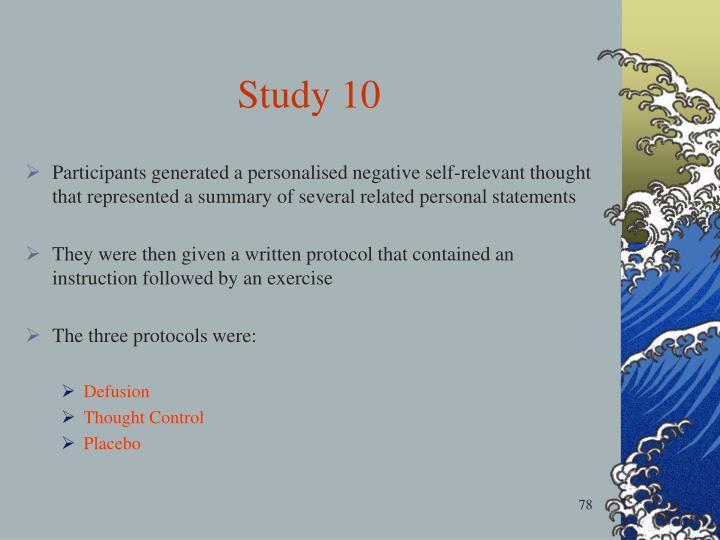 Study 10
