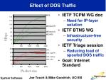 effect of dos traffic