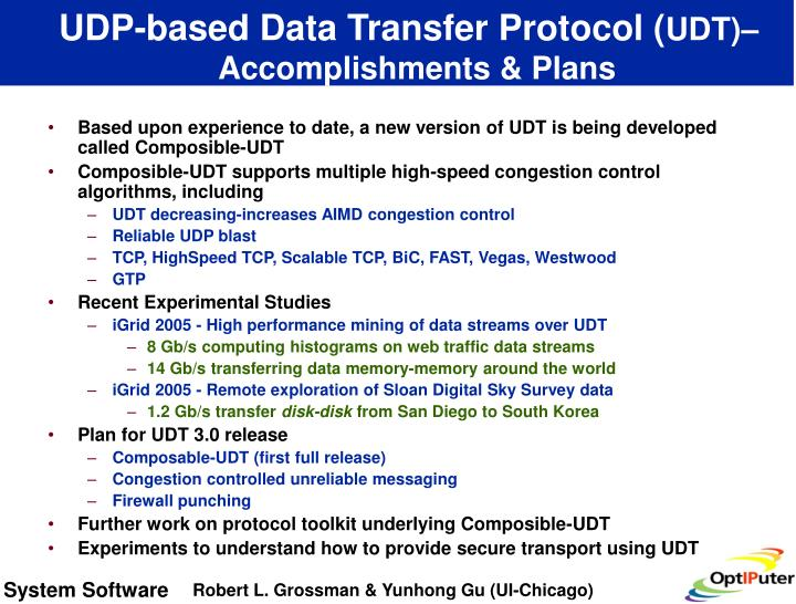 UDP-based Data Transfer Protocol (