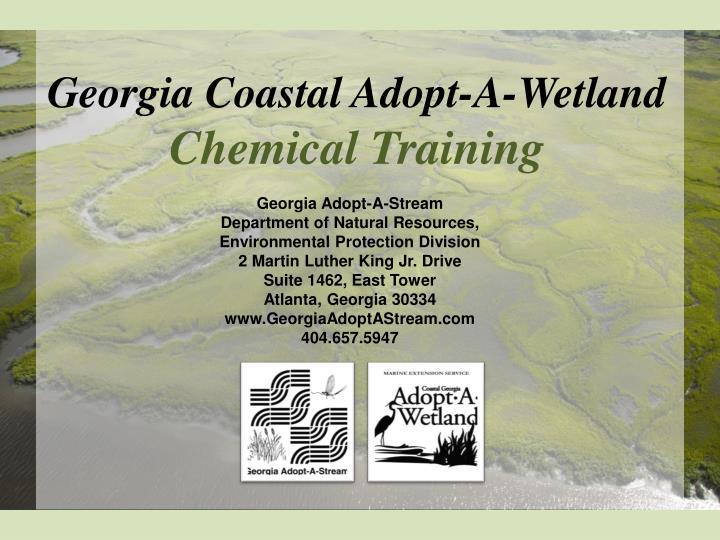 Georgia Coastal Adopt-A-Wetland
