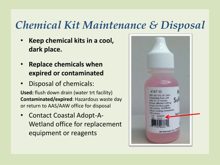 Chemical Kit Maintenance & Disposal
