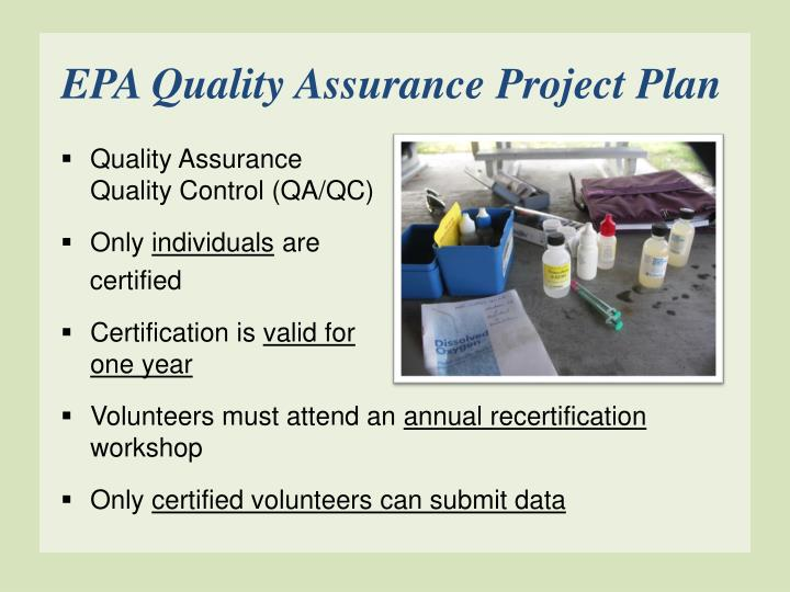 EPA Quality Assurance Project Plan