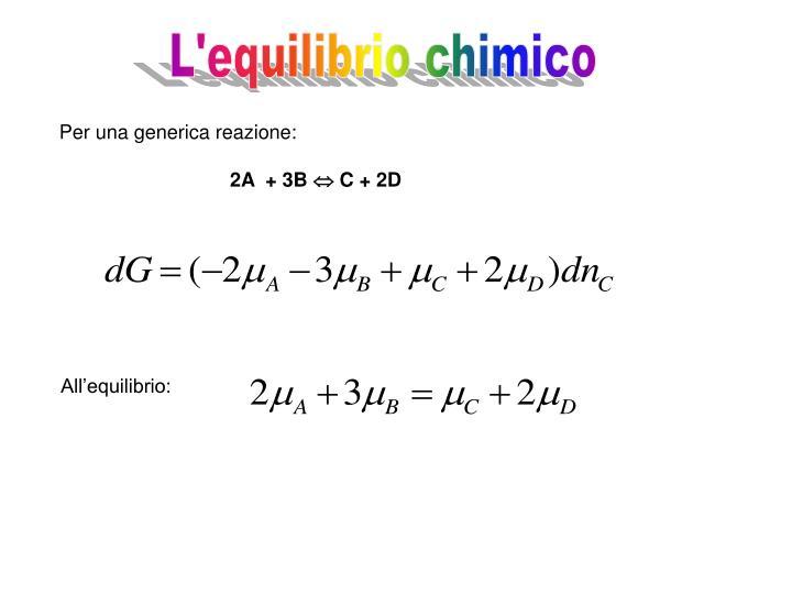 L'equilibrio chimico