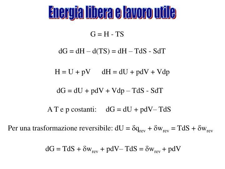 Energia libera e lavoro utile