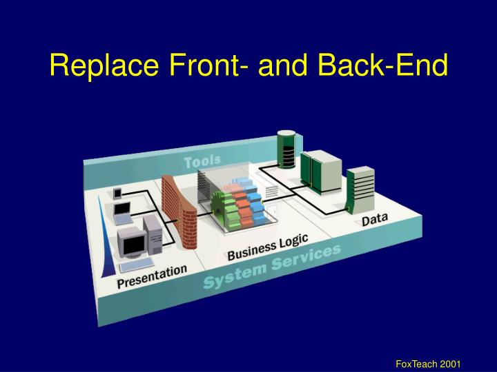 Replace Front- and Back-End