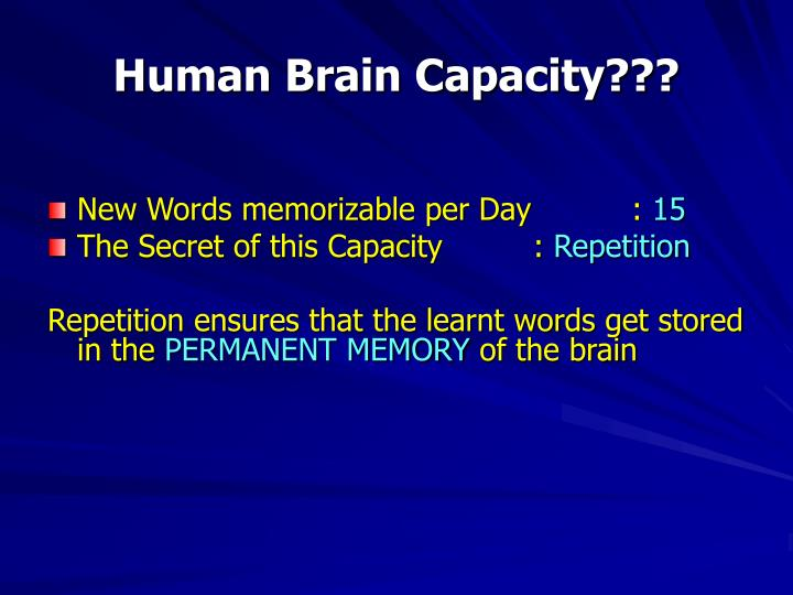 Human Brain Capacity???