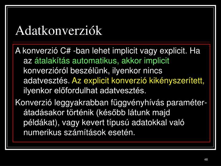 Adatkonverziók
