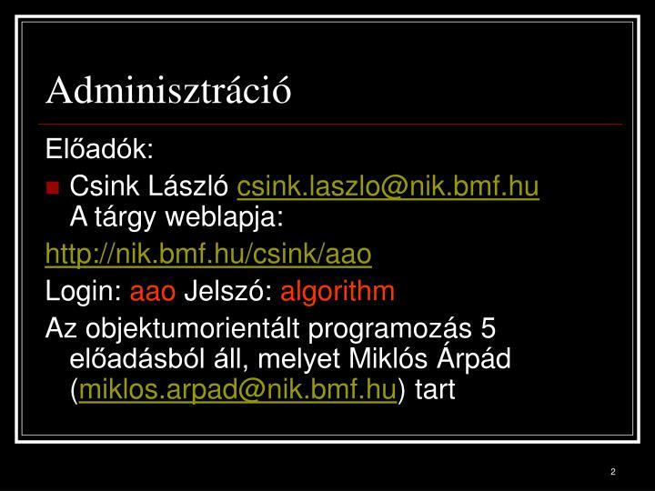 Adminisztráció