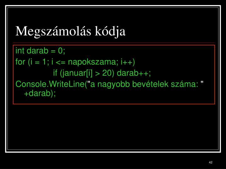 Megszámolás kódja