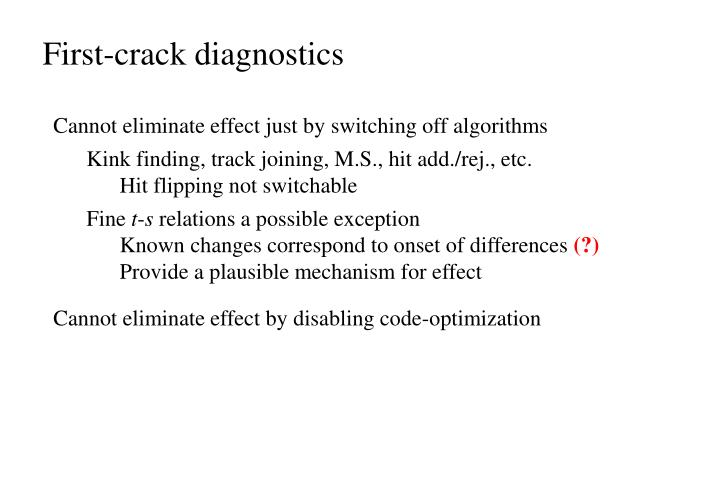 First-crack diagnostics