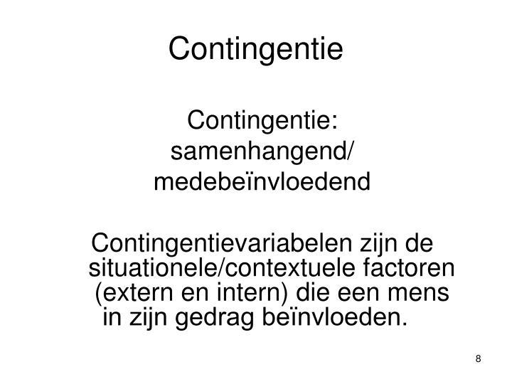 Contingentie