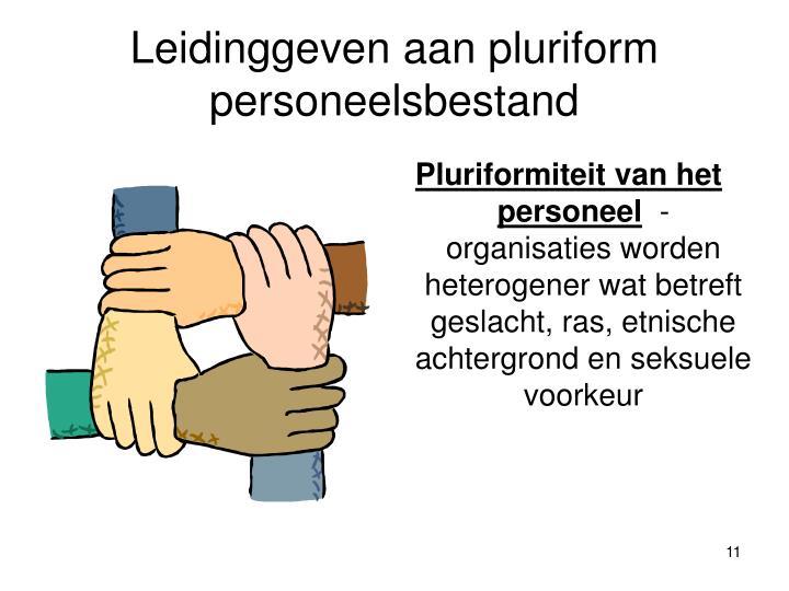 Leidinggeven aan pluriform personeelsbestand
