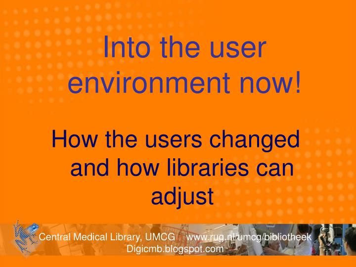 Into the user environment now!
