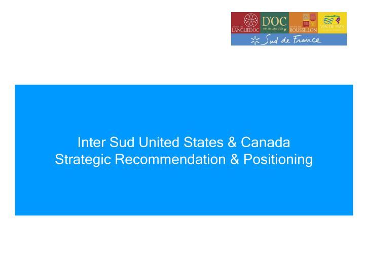Inter Sud United States & Canada