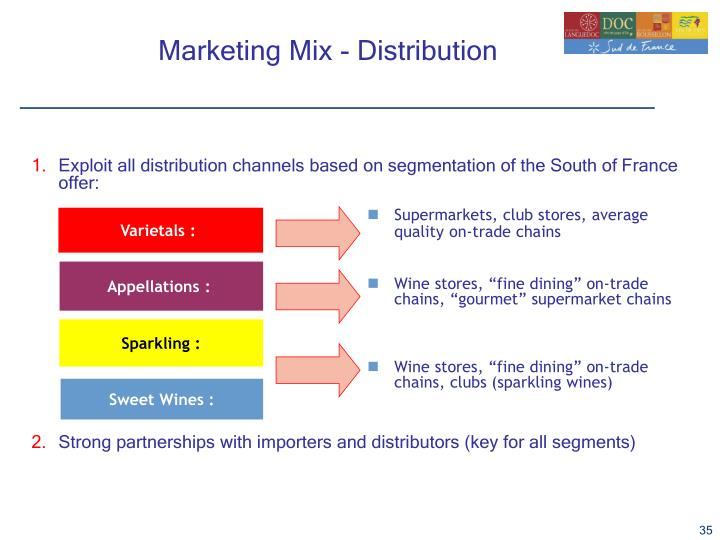 Exploit all distribution channels based on segmentation of the South of France offer: