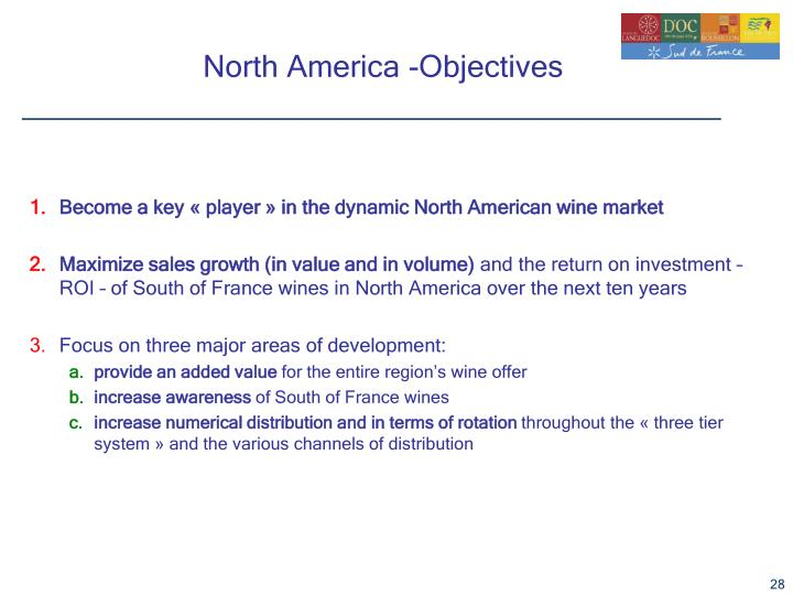 North America -Objectives