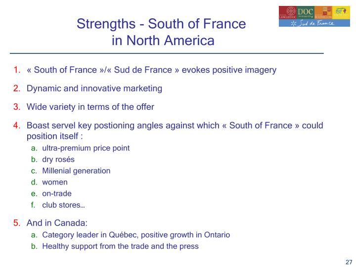 «South of France»/«Sud de France» evokes positive imagery