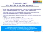 the global context why does the region need a strategy