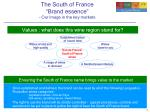 the south of france brand essence our image in the key markets