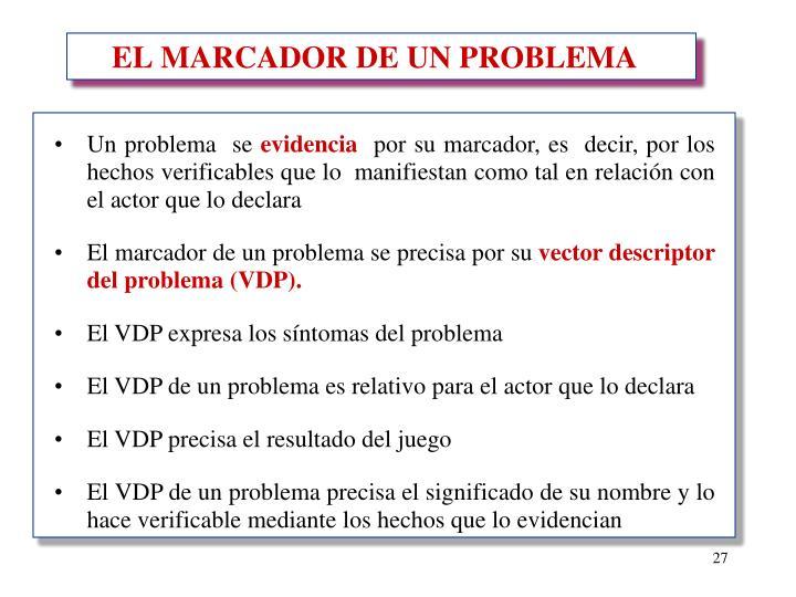 EL MARCADOR DE UN PROBLEMA