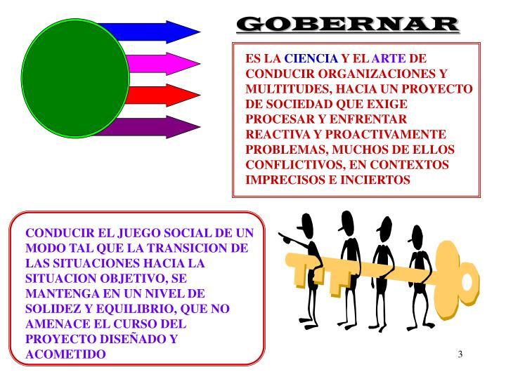 GOBERNAR