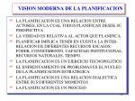 vision moderna de la planificacion